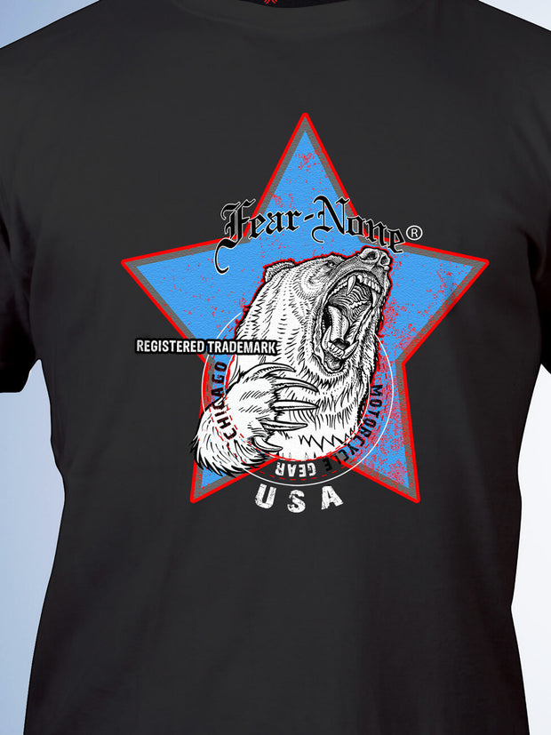 Men's Vintage Blue Highway Star Bear Rider (Black)