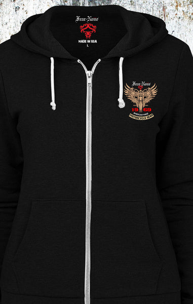 "Womens American ""1969 Gold Wings"" Hoodie"