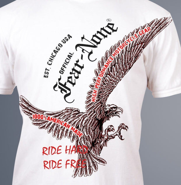 Men's Grasping Eagle Rider Shirt(White)