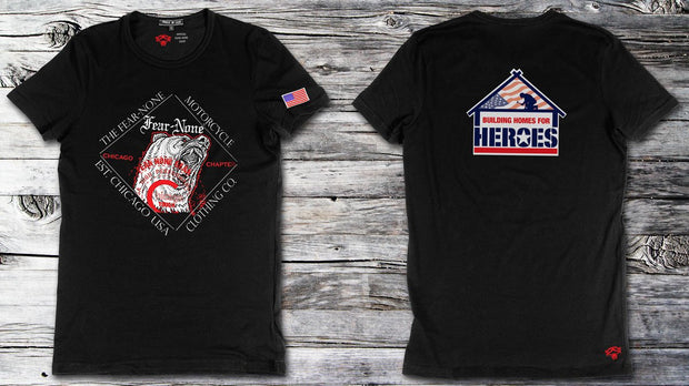 FEAR-NONE Gear building homes for heroes bear shirt