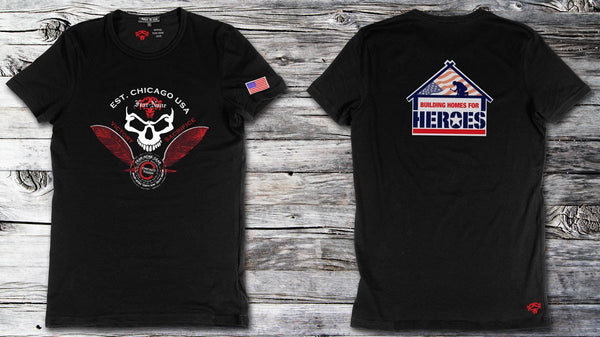 FEAR-NONE Gear building homes for heroes Skull shirt