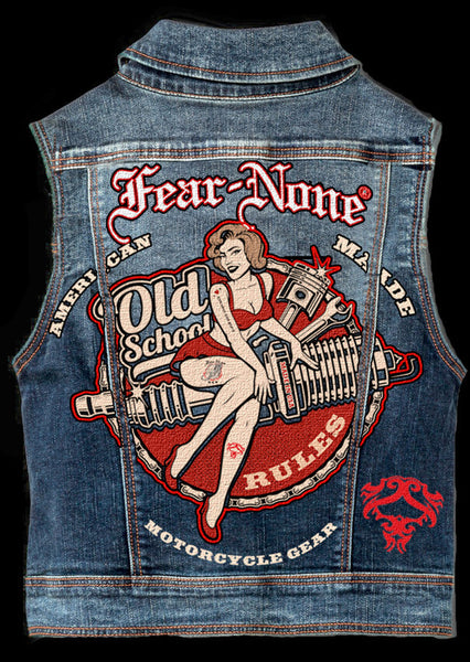 "Mens Big ""Dolly"" Denim Highway Vest"