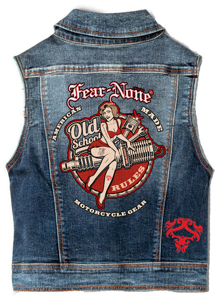 "Womens  ""Dolly"" Rider Denim Highway Vest"