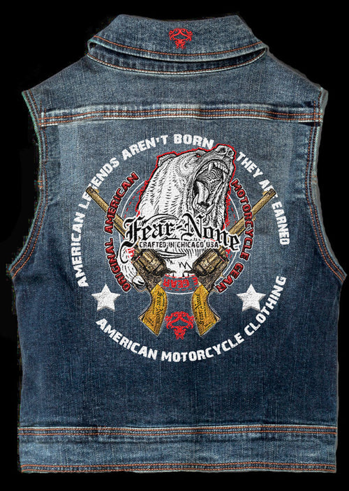 "Mens ""Bear & Guns"" Highway Vest"