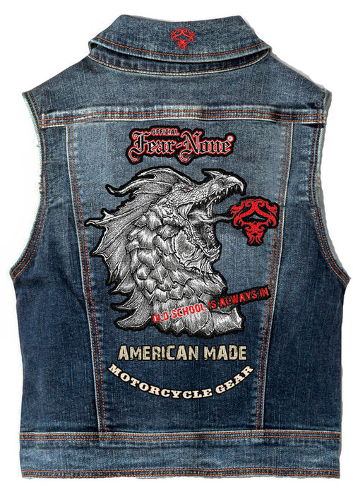 "Womens ""Serpent Rider"" Denim Highway Vest"
