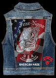Mens Bear Rider Denim Highway Vest