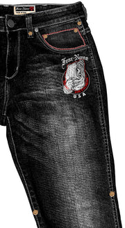 Men's Black BEAR Rider MADE IN USA 20 oz Jeans