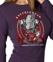 Womens Purple KNUCKLEHEAD Rider Shirt SE
