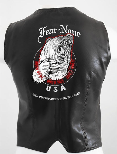 Womens Bear Rider Leather Highway Vest