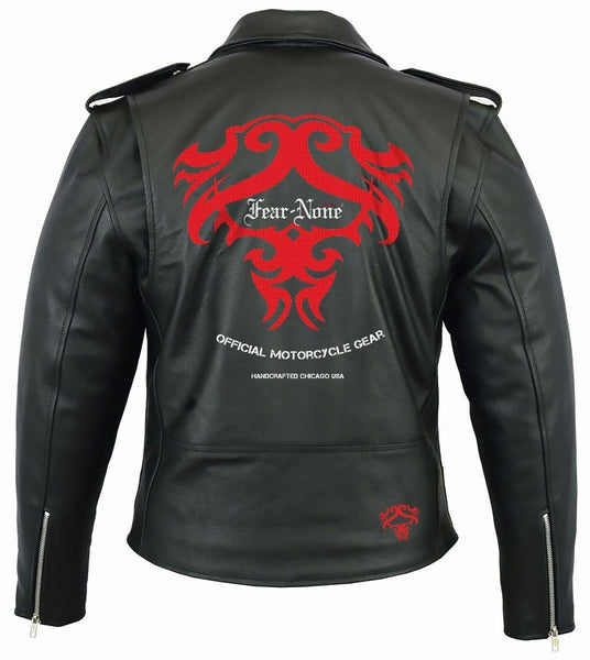 FEAR-NONE Dragon Mark Rider Leather Highway Jacket