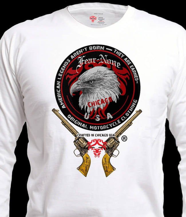 Old School Men's Eagle Head & Guns Rider