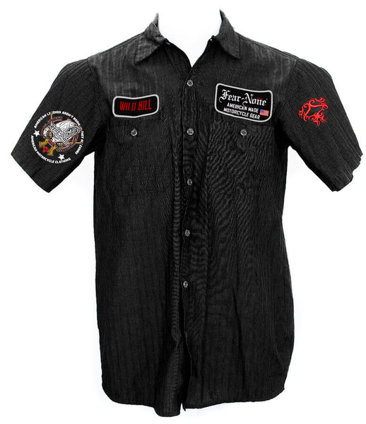 "Classic Mens ""Guns & Bear"" Mechanics Shirt"""