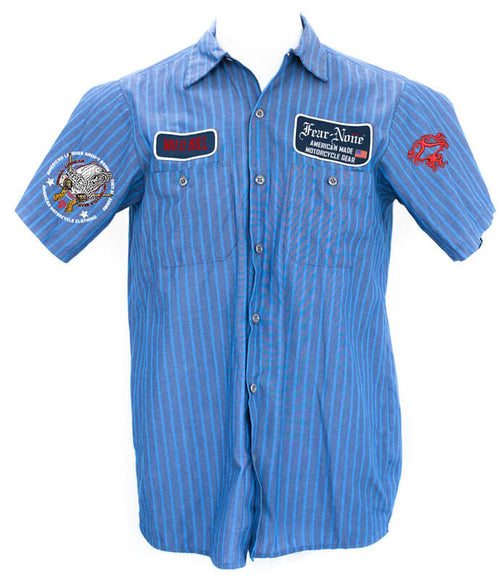 "Classic Mens BLUE ""Mechanics Shirt"""