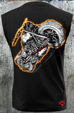 Men's SLEEVELESS Big American Flame-Back Rider