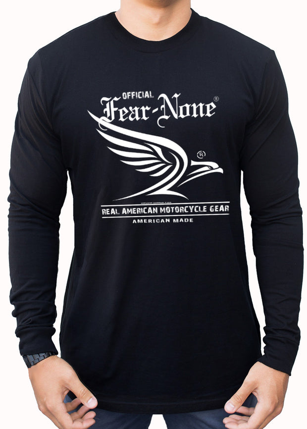 Men's White Flowing Eagle Rider (Long Sleeve)