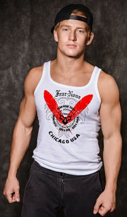 Men's Fierce White Muscle Shirt
