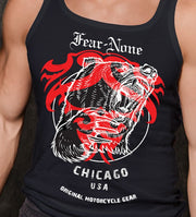 Men's Black Red Bear Muscle Shirt