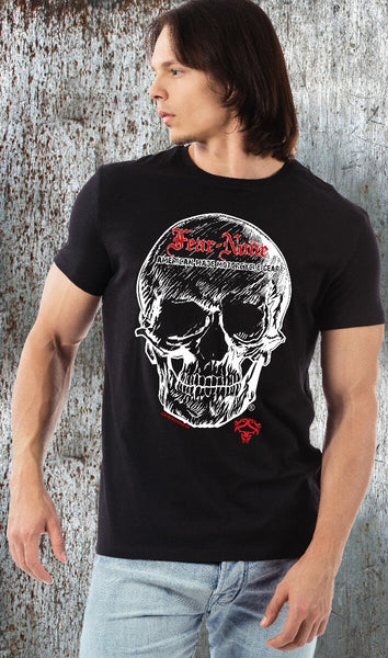 Mens Big Skull Rider (Black) Short Sleeve