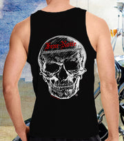 Mens Classic Big Skull Muscle Shirt