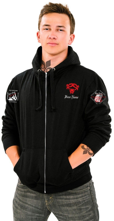 FEAR-NONE Gear Coin Badge Rider Hoodie