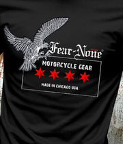 Men's B&W Old School Eagle Vintage Rider (Short Sleeve)