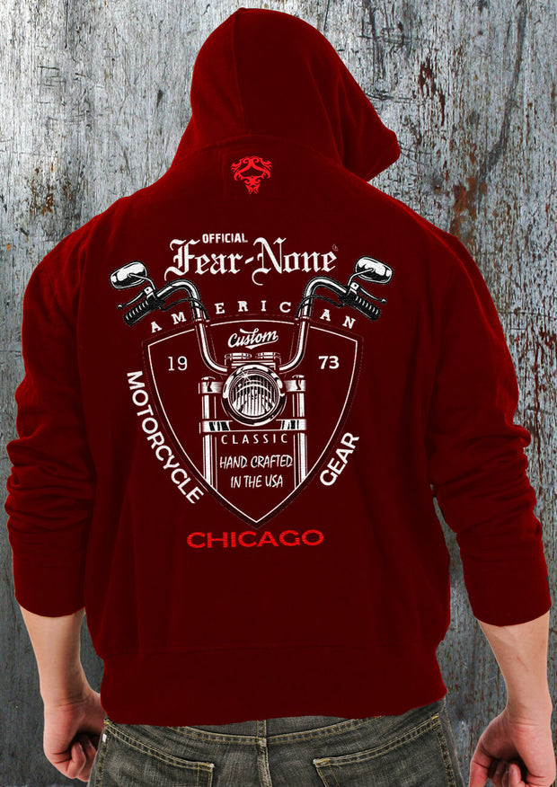 "American Red ""Custom Old Bike"" Hoodie"