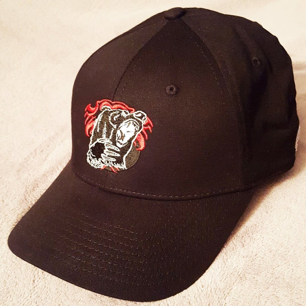 Red Bear Embroidered Cap