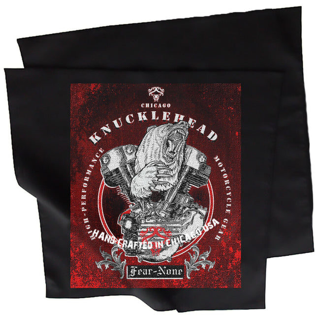 Red Knucklehead Rider Bandana