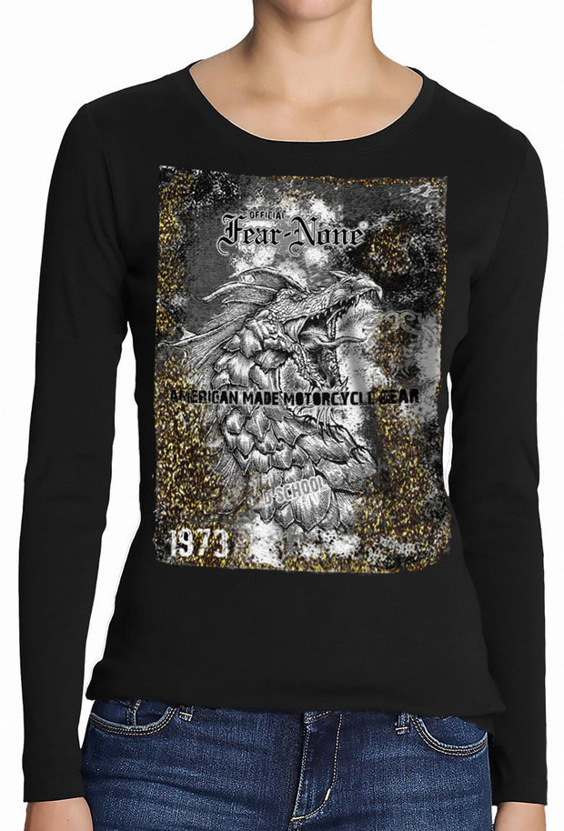 Womens 1973 Gold and Black Serpent Rider Shirt
