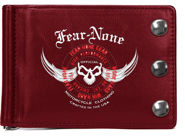 "Official ""COOLEST CLASSIC RED"" EXTRA HD Biker Wallet"