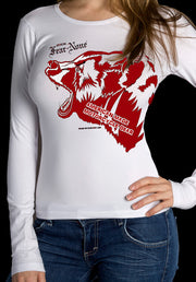 Womens White Mama Bear Rider (Long Sleeve)