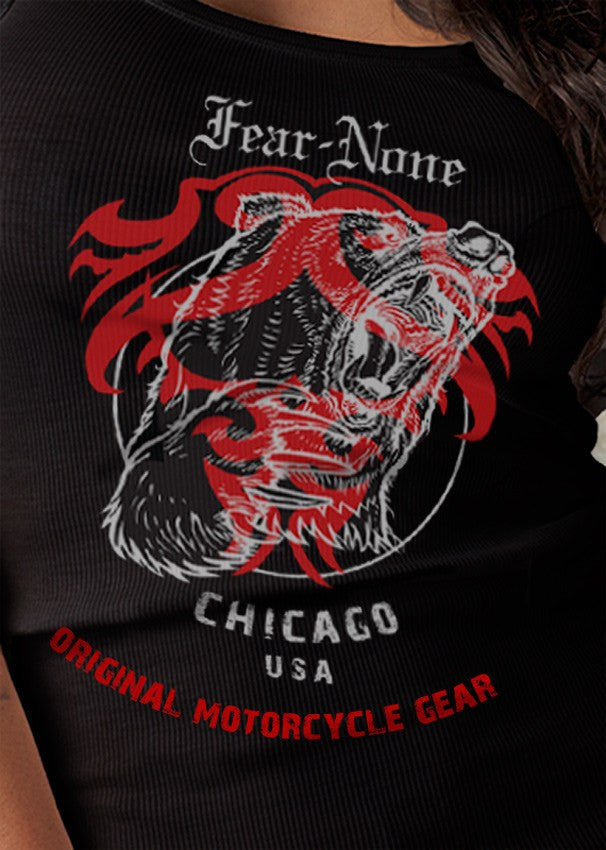 Womens Red Bear Rider Tank