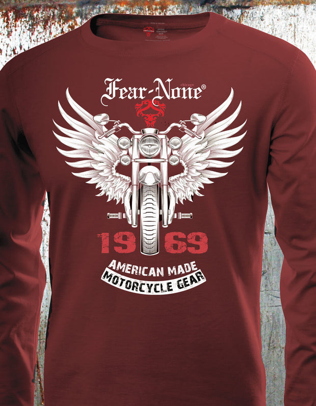 "Men's ""1969 Silver Wings"" RED Front Rider"