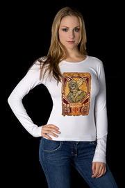 Womens White Skull Pilot Rider (Long Sleeve)
