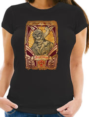 Womens Black Skull Pilot Rider (Short Sleeve)