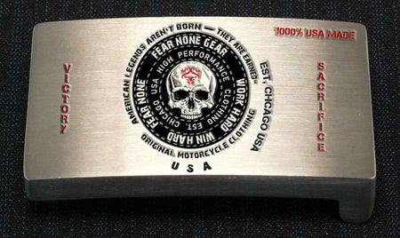 Official FEAR-NONE Circle Bear Rider Buckle