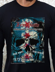 Mens SKULL-FIRE 1973 Rider (Blue)