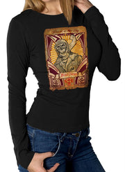 Womens Black Skull Pilot Rider (Long Sleeve)