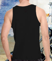 Mens Black Winged Rider Tank