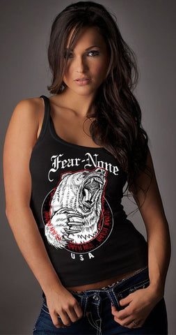 Womens Queen Bear Tank Top