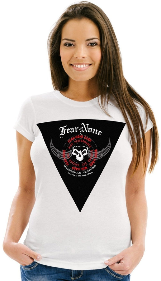 Womens TRIANGLE Rider White Tee