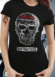 Women's Red & White Skull Rider
