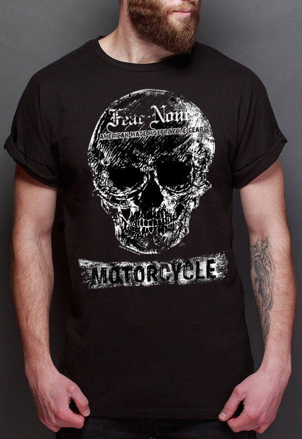 Men's White Skull Flag Rider