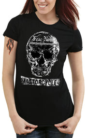 Women's Flag White Skull Rider