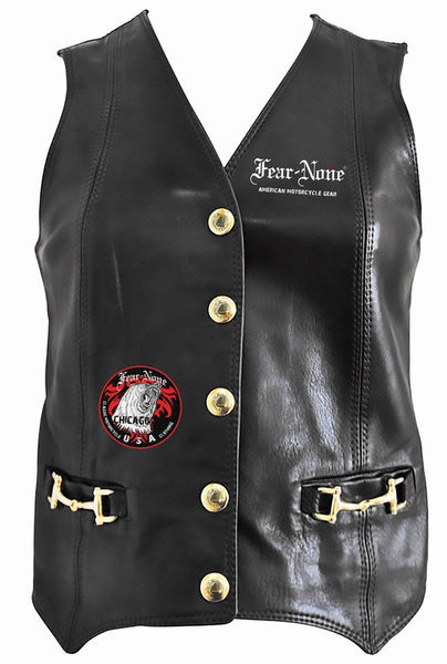 Womens Dominator Rider Leather Highway Vest