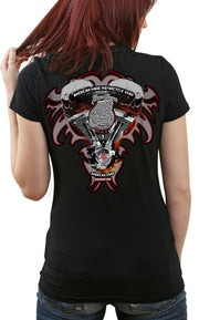 Women's V-Twin Skull Rider Shirt