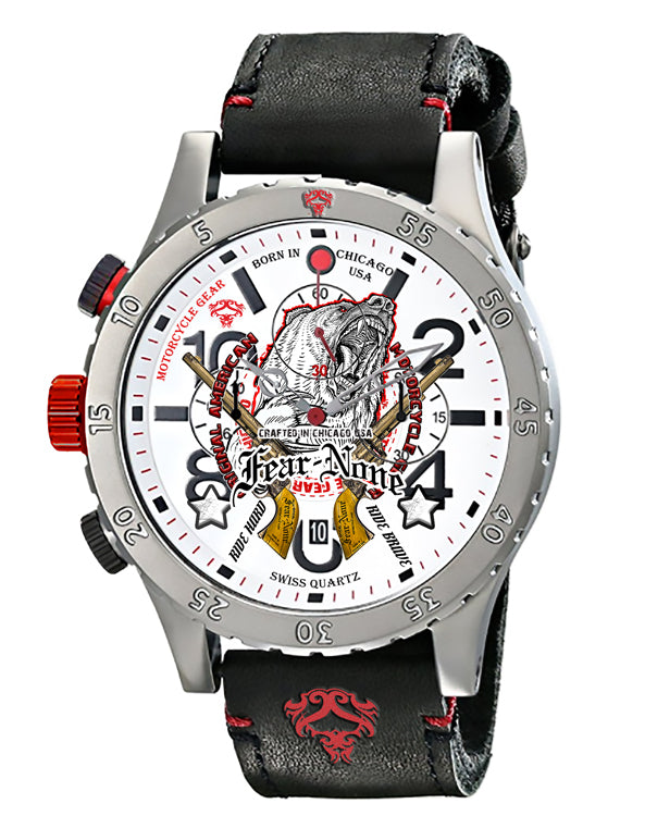"Official FEAR-NONE ""Bear & Guns"" Rider Chrono"