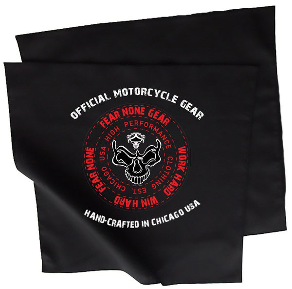 White & Red Skull Bandana