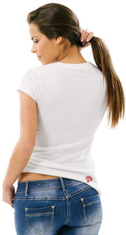 Ladies Side Dominator Rider White Tee