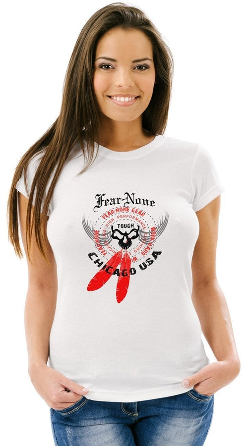 Ladies Fierce Winged White Tee